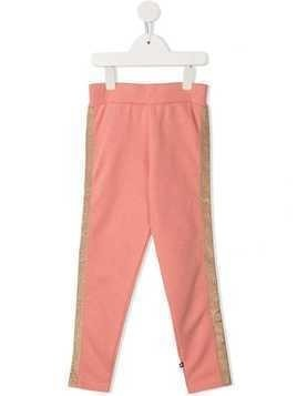 Molo metallic stripe track pants - Pink