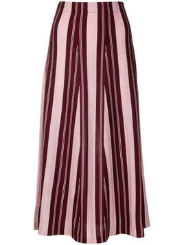 Gabriela Hearst cashmere striped skirt - Pink & Purple