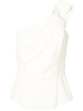 Roland Mouret Whitefield one-shoulder crinkled top
