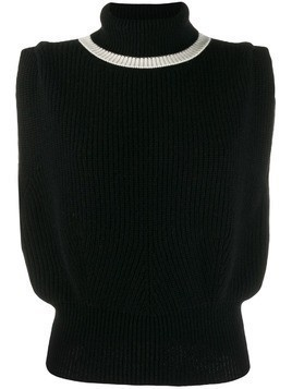 Cashmere In Love roll-neck Jade vest - Black