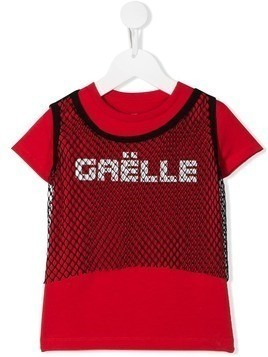 Gaelle Paris Kids brand logo T-shirt - Red