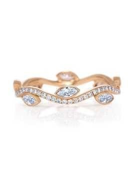 De Beers 18kt rose gold Adonis Rose diamond band