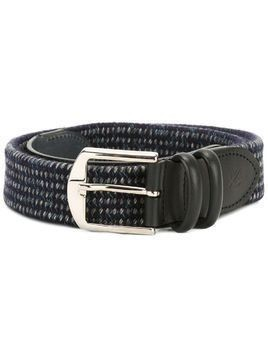 Canali woven buckled belt - Blue