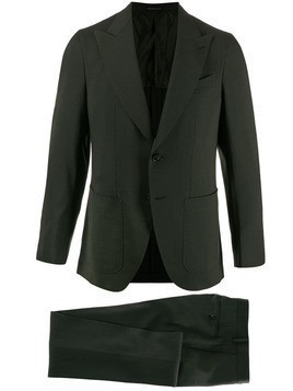 Caruso plain fitted blazer - Green