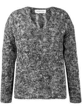Lamberto Losani v-neck cable knit jumper - Grey