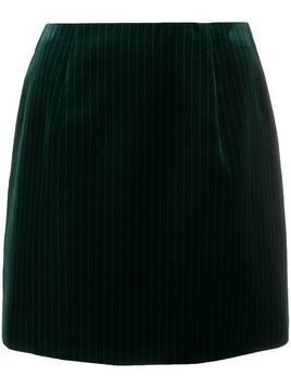 Alexa Chung pinstripe mini skirt - Green