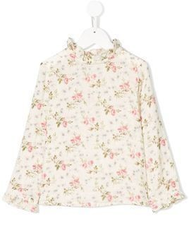 Bonpoint floral long-sleeve top - Nude & Neutrals