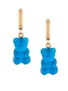 Balenciaga gummy bear hoop earrings - Blue