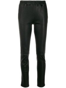 Arma leather skinny cropped trousers - Black