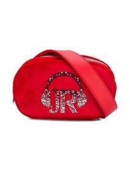 John Richmond Junior suede logo shoulder bag - Red