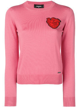Dsquared2 heart patch sweater - Pink & Purple