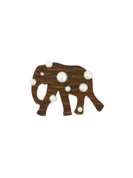 Marc Alary elephant pendant - Brown