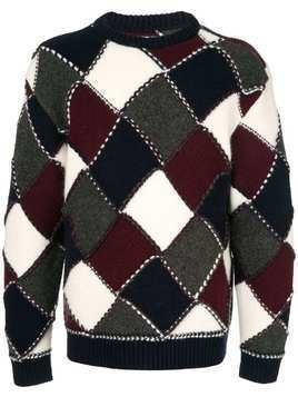 Coohem modern argyle knit sweater - Multicolour
