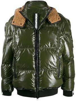 As65 shearling lined padded jacket - Green
