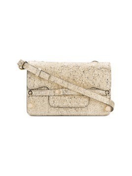 Red Valentino gold-toned square shoulder bag - Metallic