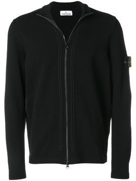 Stone Island zip-up cardigan - Black