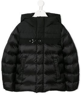 Fay Kids padded buckle coat - Black