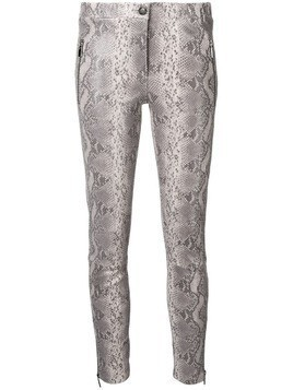Arma low rise snakeskin skinny trousers - Grey
