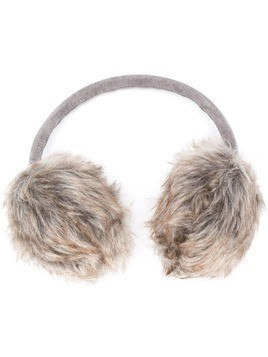 Barbour faux-fur trim earmuffs - Grey