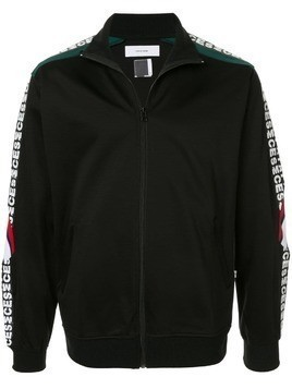 Facetasm logo trimmed sports jacket - Black