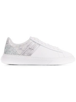 Hogan glitter low top sneakers - White