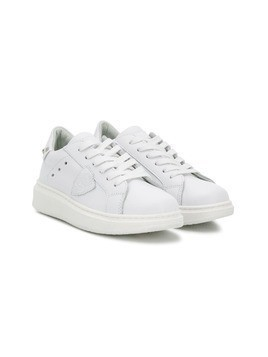 Philippe Model Kids logo patch sneakers - White