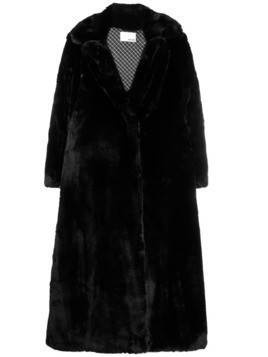 Each X Other oversized vegan mink coat - Black