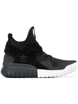 Adidas - X Tubular Primeknit sneakers - unisex - Cotton/Suede/rubber - 8 - Black