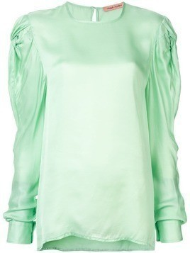 Maggie Marilyn stop to smell the roses silk blouse - Green