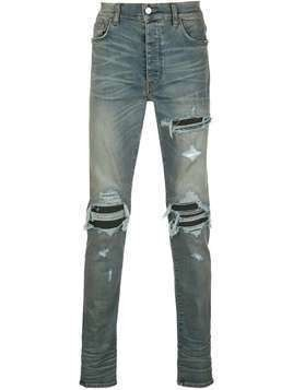 Amiri distressed skinny jeans - Blue