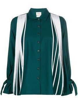 Bodice Farfetch Exclusive Flared-pleated shirt - Green