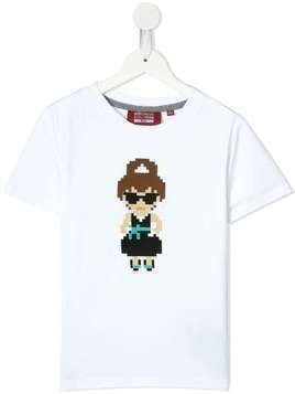Mostly Heard Rarely Seen 8-Bit Lego appliqués T-shirt - White