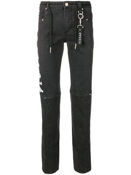 Icosae graphic print skinny-fit jeans - Black