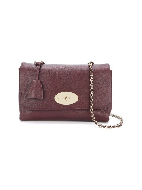 Mulberry flip lock shoulder bag - Red