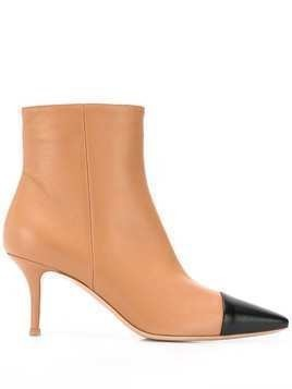 Gianvito Rossi two tone pointed ankle boots - Brown