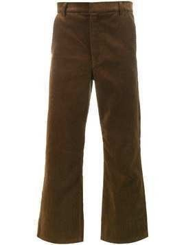 Martine Rose cropped corduroy trousers - Brown