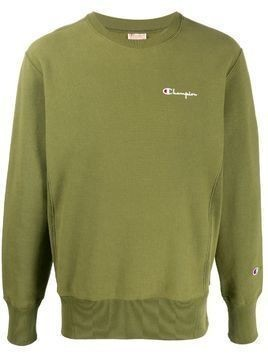 Champion small script crewneck sweatshirt - Green