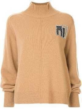Markus Lupfer cat patch relaxed-fit jumper - Brown