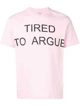 Natasha Zinko TRIED TO ARGUE oversized T-shirt - Pink
