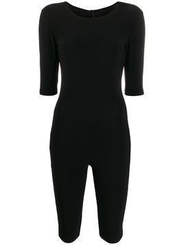 Alchemy fitted zip-up playsuit - Black