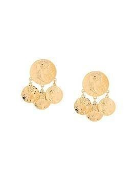 Susan Caplan Vintage 1980s D'Orlan post earrings - GOLD