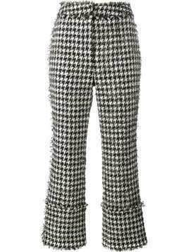 Erdem houndstooth boucle trousers - Black