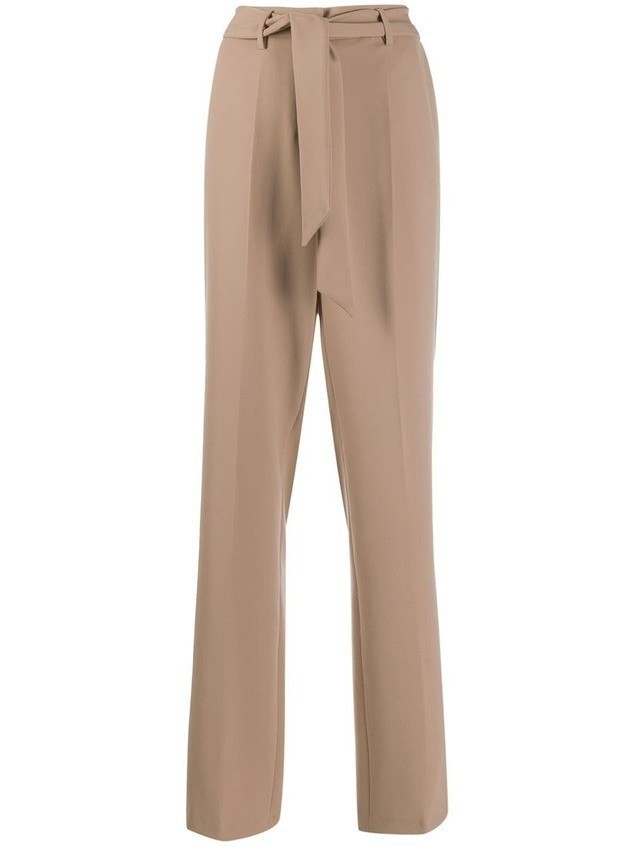 Cambio belted tailored trousers - NEUTRALS