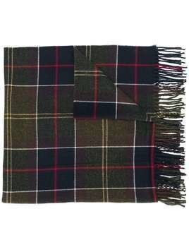 Barbour checked fringed scarf - Green