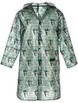 Undercover x Clockwork Orange all-over print raincoat - Green