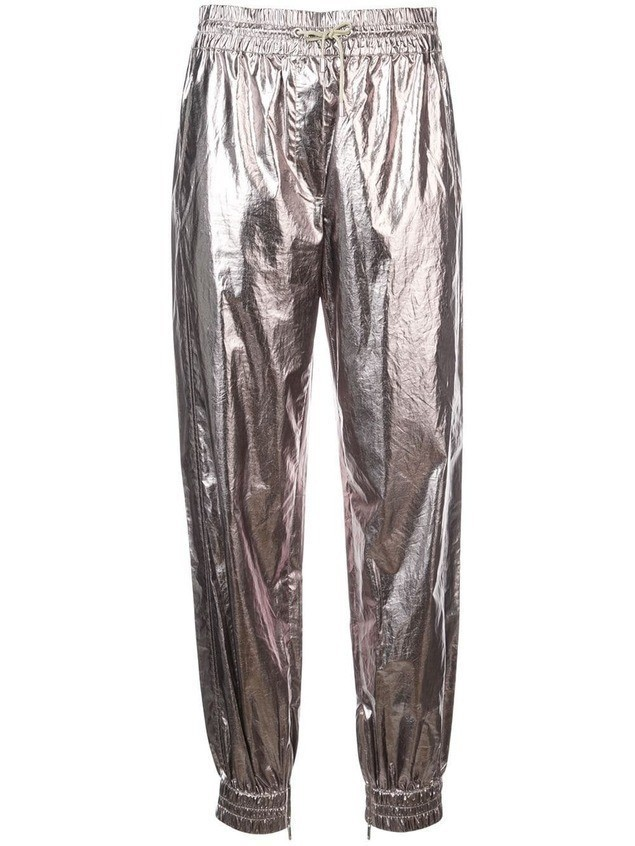 Jason Wu metallic structured trousers - Silver