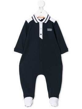 Boss Kids logo polo romper - Blue