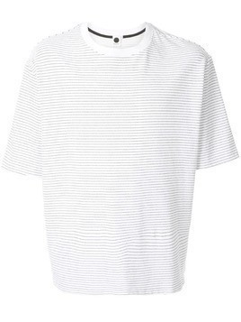 Bassike striped round neck T-shirt - White