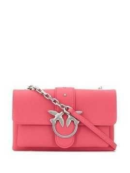 Pinko hummingbird buckle clutch
