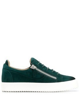 Giuseppe Zanotti double zipper sneakers - Green